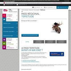 Pass régional TER'Etude - Onglet : Offre