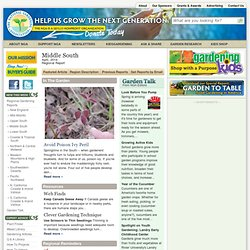 Regional Gardening Reports :: National Gardening Association