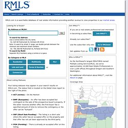 Regional Multiple Listing Service - Home