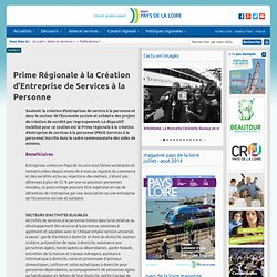 Prime Régionale à la Création d'Entreprise de Services à la Personne