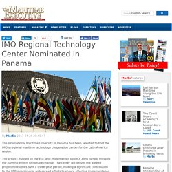 IMO Regional Technology Center Nominated in Panama