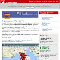 Comitato regionale per le comunicazioni - Mappatura aree wi-fi free pubbliche