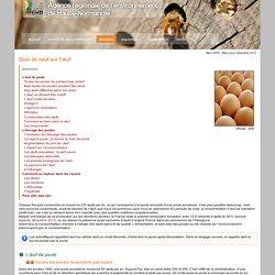 AGENCE REGIONALE DE L ENVIRONNEMENT DE HAUTE NORMANDIE - DEC 2012 - Quoi de neuf sur l'oeuf