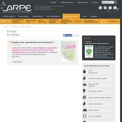 Emploi - & métiers - Agence Régionale Pour l´Environnement Provence Alpes Côte d'Azur