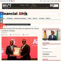 La belle année 2016 de la Bourse régionale des valeurs mobilières d'Abidjan