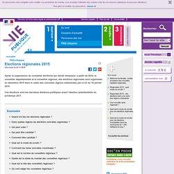 Elections régionales 2015 . FAQ - Actualités