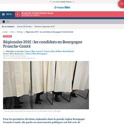 Régionales 2015 : les candidats en Bourgogne Franche-Comté