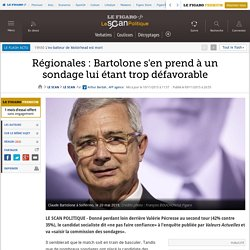 Régionales : Bartolone s'en prend à un sondage lui étant trop défavorable
