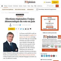 Elections régionales: l'enjeu démocratique du vote en juin
