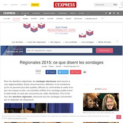 Régionales 2015: ce que disent les sondages