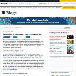 Régionales : la guerre des «data» n'aura pas lieu