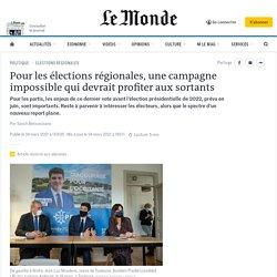 Pour les élections régionales, une campagne impossible qui devrait profiter aux sortants