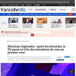 Elections régionales: après les attentats, le FN passe en tête des intentions de vote au premier tour
