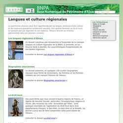 Langues et culture régionales Rubrique - Base Numérique du Patrimoine Alsacien