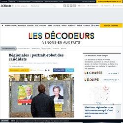 Régionales: portrait-robot des candidats