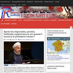 Après les régionales, promis, Hollande supprimera le vin quand il recevra le président iranien