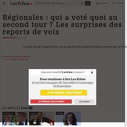 Régionales: qui a voté quoi au second tour? Les surprises des reports de voix