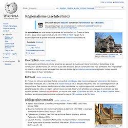Régionalisme (architecture)