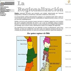 Regionalizacion en chile