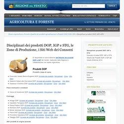 Disciplinari prodotti DOP, IGP e STG