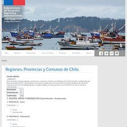 Regiones, Provincias y Comunas de Chile.