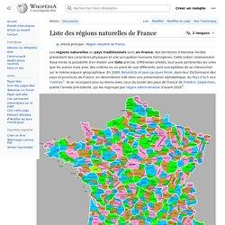 Liste des régions naturelles de France