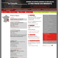 CIMADE - Régions - Rhône-Alpes