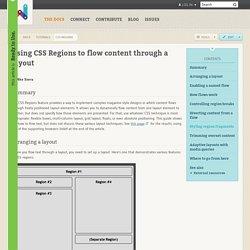 css-regions · tutorials · WPD · WebPlatform.org