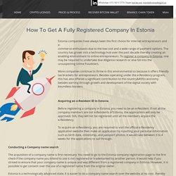 Register A Company In Estonia