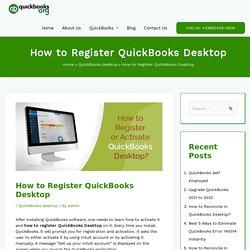 Easy Steps to Register or Activate QuickBooks Desktop