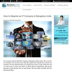 How to Register an IT Company in Bangalore, India