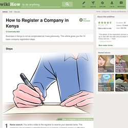 How to Register a Company in Kenya: 10 Steps