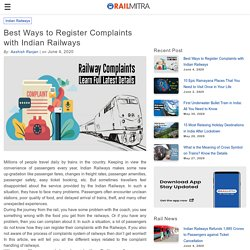 Best Ways to Register Complaints with Indian Railways