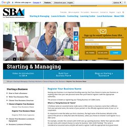 """Register Your Fictitious or """"Doing Business As"""" (DBA) Name"""