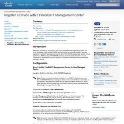 Register a Device with a FireSIGHT Management Center