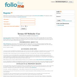 Register - foliofor.me - a free ePortfolio site for YOU