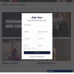 Register - Join Now For Free | Rent The Runway