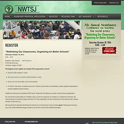 Northwest Conference on Teaching for Social Justice