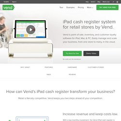iPad Cash Register System for Retail Stores by Vend