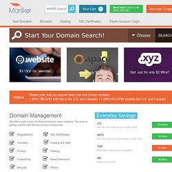 Domain Names – Domain Name Registration – Management – Appraisals - Moniker SnapNames