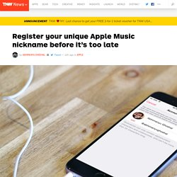 Register your unique Apple Music nickname before it's too late