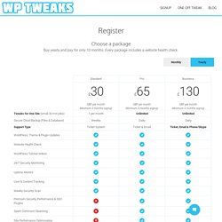 Register - WP Tweaks