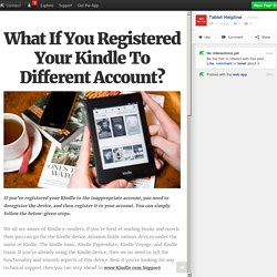 What If You Registered Your Kindle To Different Account?