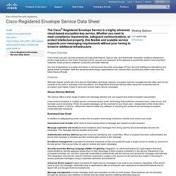 Cisco Registered Envelope Service Data Sheet