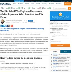 The Flip Side Of The Registered Investment Adviser Explosion: What Investors Need To Know