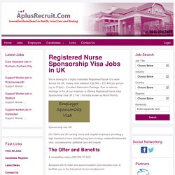Registered Nurse Jobs in UK with Tier 2 Visa