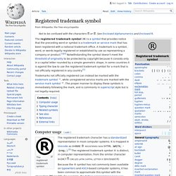 Registered trademark symbol - Wikipedia