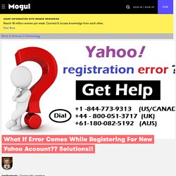 Get Service On Yahoo Technical Support Services