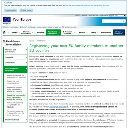 Registering your non-EU family members in another EU country - Your Europe