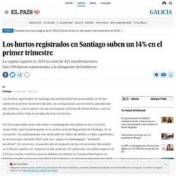 Los hurtos registrados en Santiago suben un 14% en el primer trimestre